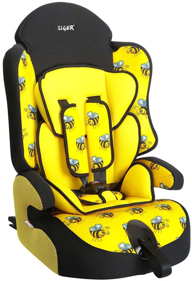 Siger Art Автокресло Прайм IsoFix Пчелка от 9 до 36 кгKRES0151Детское автокресло Siger Прайм IsoFix. Пчелка разработано для детей от 1 года до 12 лет, весом от 9 до 36 кг. Относится к возрастной группе 1/2/3. Отличительным свойством автокресла является простота и надежность крепления его к автомобилю. Это достигается благодаря системе крепления Isofix. Для удобства малышей от 1 до 4 лет автокресло оборудовано пятиточечным ремнем безопасности с регулировкой по глубине и высоте, мягким съемным вкладышем и мягкими накладками на ремни. Съемный чехол изготовлен из нетоксичного гипоаллергенного материала, который безопасен для малыша. Округлая форма сиденья не режет ножки ребенка и предохраняет их от затекания. Особая форма спинки надежно защищает от боковых ударов.Детские удерживающие устройства Siger разработаны и выполнены в России с учетом анатомии российских детей.Автокресло успешно прошло все необходимые краш-тесты и имеет сертификат соответствия техническому регламенту РФ и таможенному союзу. В детском автомобильном кресле Siger ваш ребенок будет путешествовать в безопасности и с удовольствием!