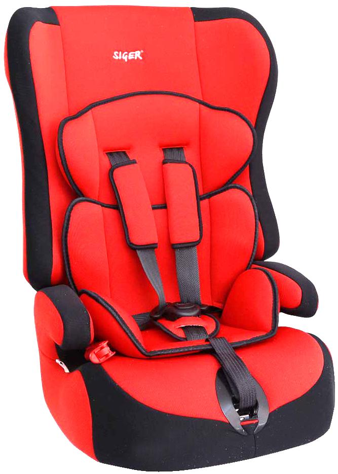 Siger Автокресло Прайм цвет красный от 9 до 36 кгKRES0002Детское автокресло Siger Прайм разработано для детей от 1 года до 12 лет, весом от 9 до 36 кг. Относится к возрастной группе 1/2/3.Отличительным свойством автокресла является его универсальность. При соответственном весе ребенка кресло может использоваться в течение 12 лет. Для удобства малышей от 1 до 4 лет автокресло оборудовано пятиточечным ремнем безопасности с регулировкой по глубине и высоте, мягким съемным вкладышем и мягкими накладками на ремни. Съемный чехол изготовлен из нетоксичного гипоаллергенного материала, который безопасен для малыша. Округлая форма сиденья не режет ножки ребенка и предохраняет их от затекания.Детские удерживающие устройства Siger разработаны и выполнены в России с учетом анатомии российских детей. Двухпозиционная регулировка центральной лямки позволяет адаптировать внутренние ремни под зимнюю и летнюю одежду ребенка.Автокресло успешно прошло все необходимые краш-тесты и имеет сертификат соответствия техническому регламенту РФ и таможенному союзу. В детском автомобильном кресле Siger ваш ребенок будет путешествовать в безопасности и с удовольствием!