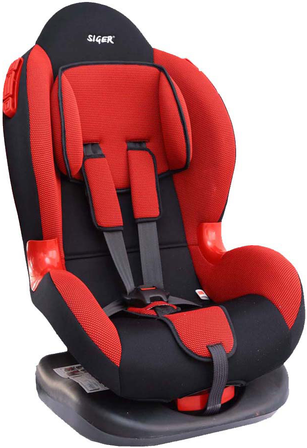 Siger Автокресло Кокон цвет красный от 9 до 25 кгKRES0111Детское автокресло Siger Кокон разработано для детей от 1 года до 7 лет, весом от 9 до 25 кг. Относится к возрастной группе 1/2.Автокресло имеет выраженную тыльную и боковую защиты, что обеспечивает безопасность при резких поворотах и боковых ударах. Замок внутренних ремней безопасности обладает повышенной надежностью, внутренние ремни регулируются по высоте в зависимости от роста ребенка. Для детишек в возрасте от 1 до 4 лет можно регулировать наклон кресла в шести положениях.Мягкий подголовник, специальная ортопедическая спинка и накладки внутренних ремней повышают уровень комфорта во время поездки. Специальные пластиковые накладки и направляющие штатного ремня гарантируют правильное прохождение ремня безопасности. Износостойкий съемный чехол выполнен из нетоксичного гипоаллергенного материала.Детские удерживающие устройства Siger разработаны и выполнены в России с учетом анатомии российских детей. Двухпозиционная регулировка центральной лямки позволяет адаптировать внутренние ремни под зимнюю и летнюю одежду ребенка.Автокресло успешно прошло все необходимые краш-тесты и имеет сертификат соответствия техническому регламенту РФ и таможенному союзу. В детском автомобильном кресле Siger ваш ребенок будет путешествовать в безопасности и с удовольствием!