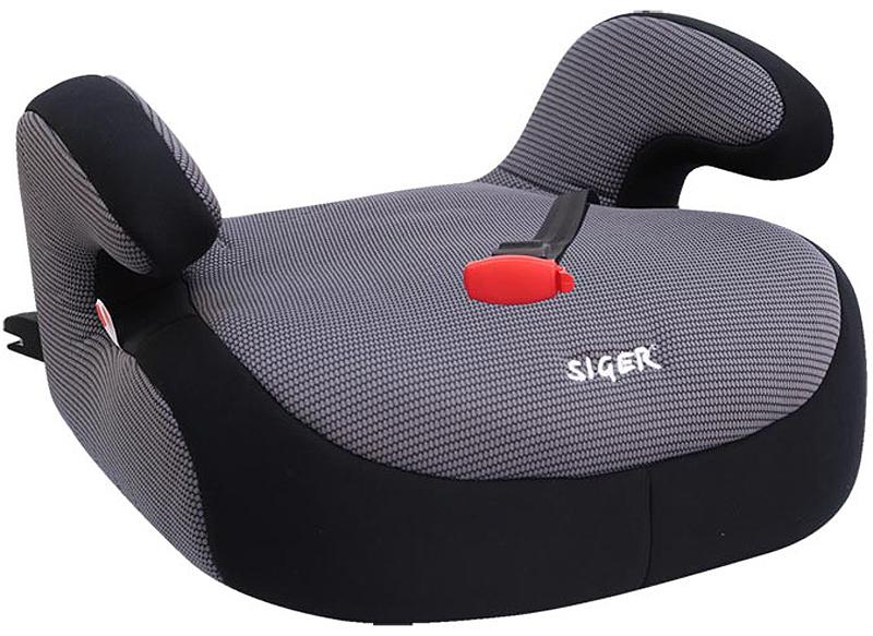 Siger Бустер Fix цвет серый от 22 до 36 кгKRES0187Автокресло Siger Бустер Fix относится к возрастной группе 3, для детей от 6 до 12 лет, весом от 22 до 36 кг.Отличительным свойством автокресла является простота и надежность крепления его к автомобилю. Это достигается благодаря системе крепления Isofix. Автокресло будет всегда присоединено к сиденью автомобиля, что исключает его перемещения по салону во время движения без ребенка.Каркас автокресла изготовлен из ударопрочной ПНД-пластмассы, а чехол является износостойким и легко снимается для стирки. Специальный мягкий чехол обеспечивает ребенку комфорт во время путешествия.Детские удерживающие устройства Siger разработаны и изготовлены в России с учетом анатомии российских детей. Увеличенное посадочное место обеспечивает удобство в поездке, как в летней, так и в зимней одежде. Автокресло успешно прошло все необходимые тесты и имеет сертификат соответствия техническому регламенту РФ и таможенному союзу.