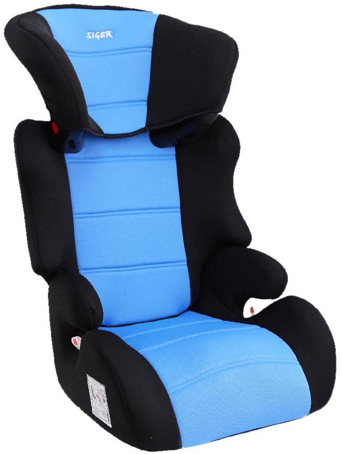 Siger Автокресло Смарт цвет голубой от 15 до 36 кгKRES0216Автокресло Siger Смарт относится к возрастной группе 2/3, для детей от 3 до 12 лет, весом от 15 до 36 кг.Кресло применимо в двух возрастных группах: 3-7 лет (полная комплектация) и 8-12 лет (отдельно бустер).Подголовник с 6-ступенчатой регулировкой по высоте позволяет адаптировать кресло под рост ребенка. Автокресло Siger Смарт имеет ярко-выраженную боковую и тыльную защиту головы. Чехол изготовлен из качественного износостойкого и гипоаллергенного материала. Специальная ортопедическая спинка повышает уровень комфорта во время поездки.В основе кресла Siger Смарт усиленный каркас сиденья. Специальные ярлычки показывают направление штатного ремня безопасности и обеспечивают правильное крепление кресла в автомобиле.Детские удерживающие устройства Siger разработаны и изготовлены в России с учетом анатомии российских детей. Двухпозиционная регулировка внутренних ремней позволяет адаптировать кресло Siger Смарт под зимнюю и летнюю одежду ребенка. Автокресло успешно прошло все необходимые и имеет сертификат соответствия техническому регламенту РФ и таможенному союзу.