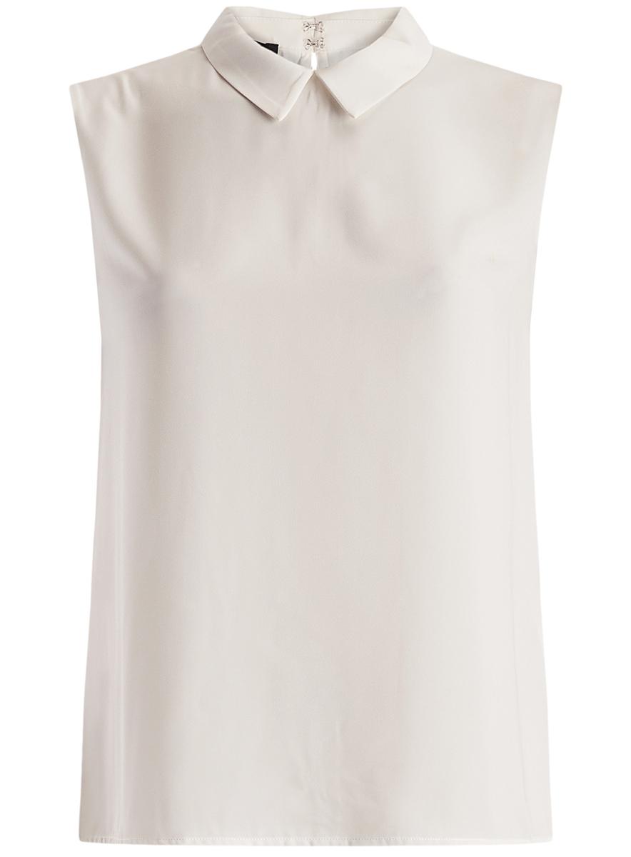 Блузка женская oodji Ultra, цвет: белый. 11411084B/43414/1200N. Размер 44-170 (50-170) блузка женская oodji ultra цвет белый 11411062 1 43291 1200n размер 36 170 42 170
