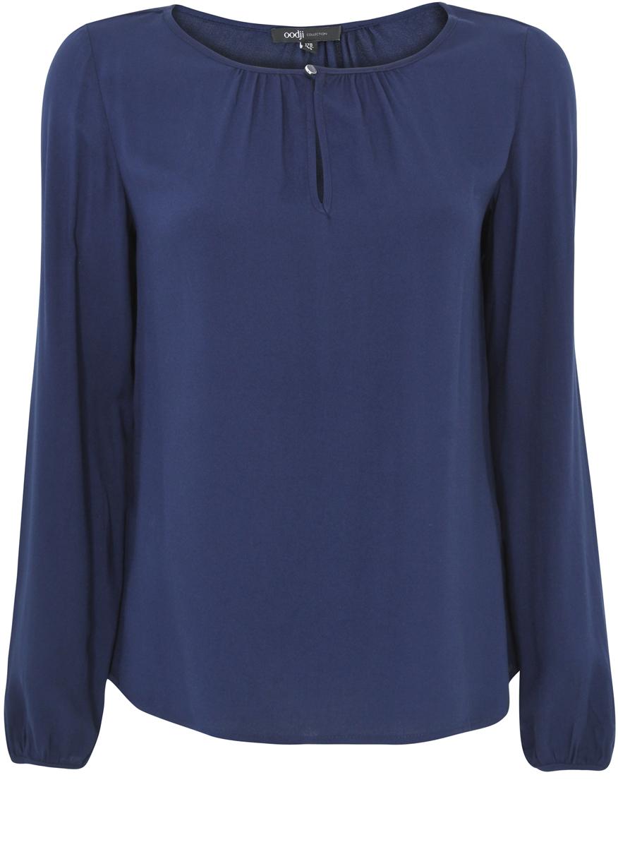 Блузка женская oodji Collection, цвет: темно-синий. 21400321-4/35610/7900N. Размер 36-170 (42-170)