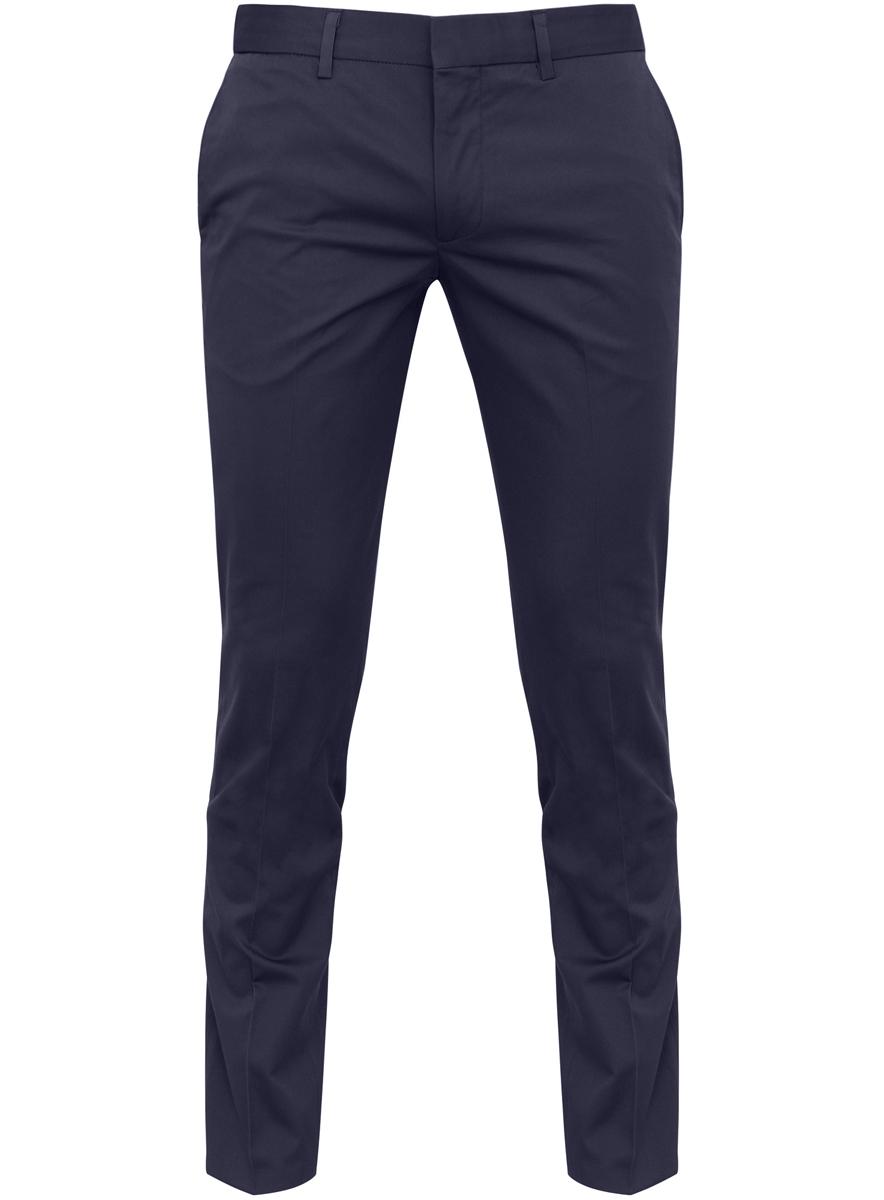 Брюки мужские oodji Basic, цвет: темно-синий. 2B210007M/23421N/7900N. Размер 36-182 (44-182)