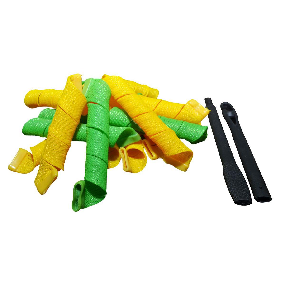Magic Leverage Волшебные бигуди Средние лайт 25 см, 12 штСрл25Яркие разноцветные бигуди Magic Leverage средней длины отлично подойдут для подарка: они упакованы в нарядную картонную коробку. Волшебные бигуди длиной 25 см. предельно просты и удобны в использовании. Это новинка в мире стайлинга волос: всего за 30 минут не выходя из дома вы сможете сделать прическу как в лучшем салоне красоты. Обратите внимание: для густых волос понадобится две упаковки средних бигуди. Нанесите на влажные волосы укладочное средство. Просуньте складной крючок, который входит в набор, внутрь бигуди, зацепите прядь и протащите ее насквозь. Несколько пассов феном, и по плечам рассыпаются стойкие упругие локоны. Остается только красиво заколоть их в прическу… и вперед, покорять мир!могут быть различные!Характеристики:Длина: 25 смШирина локона: 2 смДиаметр завитка: 2 смКоличество: 12 шт.Крючок: двойнойУпаковка: коробка