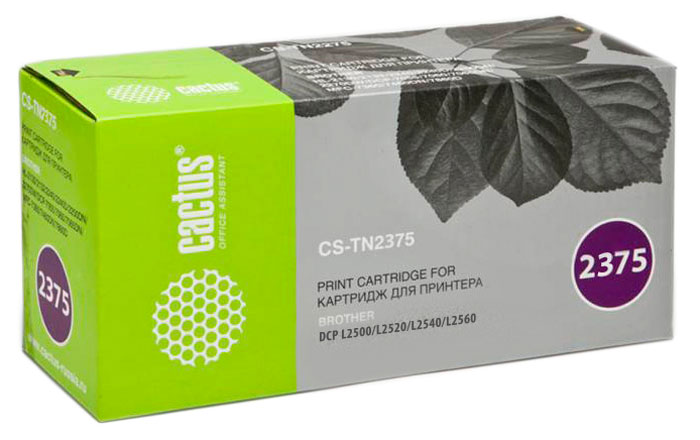 Cactus CS-TN2375, Black тонер-картридж для Brother DCP L2500/L2520/L2540/L2560 картридж cactus black для dcp 7010 7010r 7020 7025 7025r fax 2820 2825 2825 cs tn2075