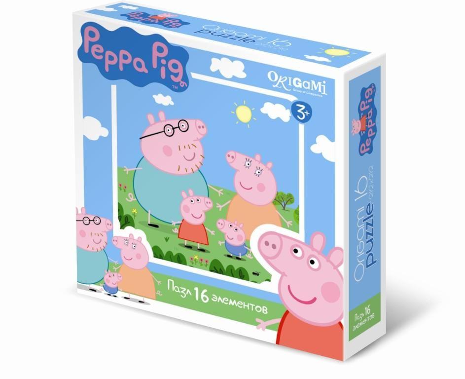 Оригами Пазл для малышей Peppa Pig Пеппа с семьей