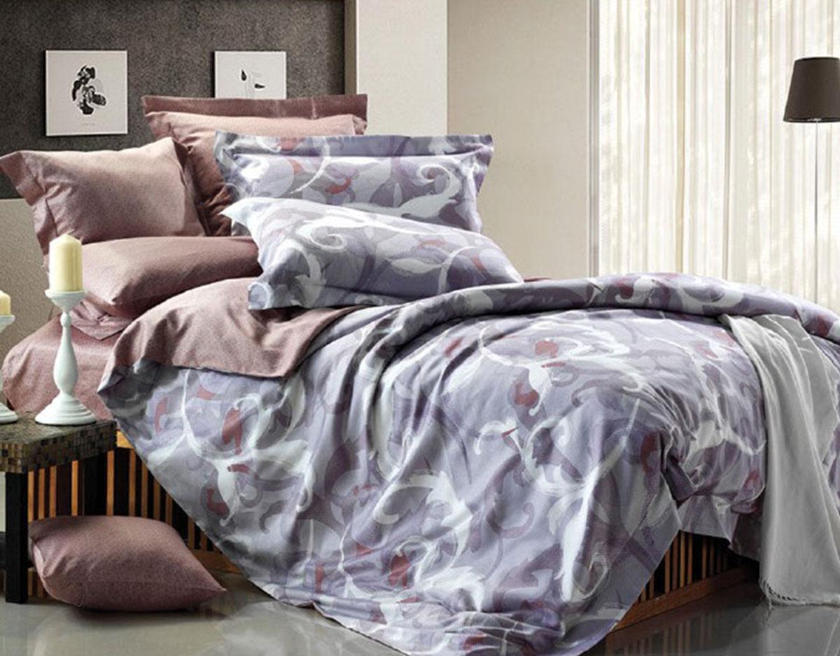 Комплект белья Seta Serenty, 1,5-спальный, наволочки 50x70016512102Комплект домашнего текстиля в самом трендовом цвете года! Абстрактный принт на внешней части пододеяльника великолепно сочетается с основной расцветкой изделия, придавая ему особенную выразительность и эффектность.Поплиновое постельное бельё от компании Seta имеет ряд несомненных достоинств: оно хорошо сохраняет форму и цвет, имеет приятную на ощупь поверхность, хорошо удерживает тепло и впитывает влагу. Кроме этого, комплекты постельного белья из поплина не требуют специального ухода: их можно стирать в стиральной машине при температуре до 60°C и утюжить при температуре до 110°C. Ткань поплин гипоаллергенна, отвечает всем европейским экологическим стандартам. И, наконец, такое постельное бельё при всех своих высоких эксплуатационных качествах стоит относительно недорого, изготовлено из 100 % хлопка.