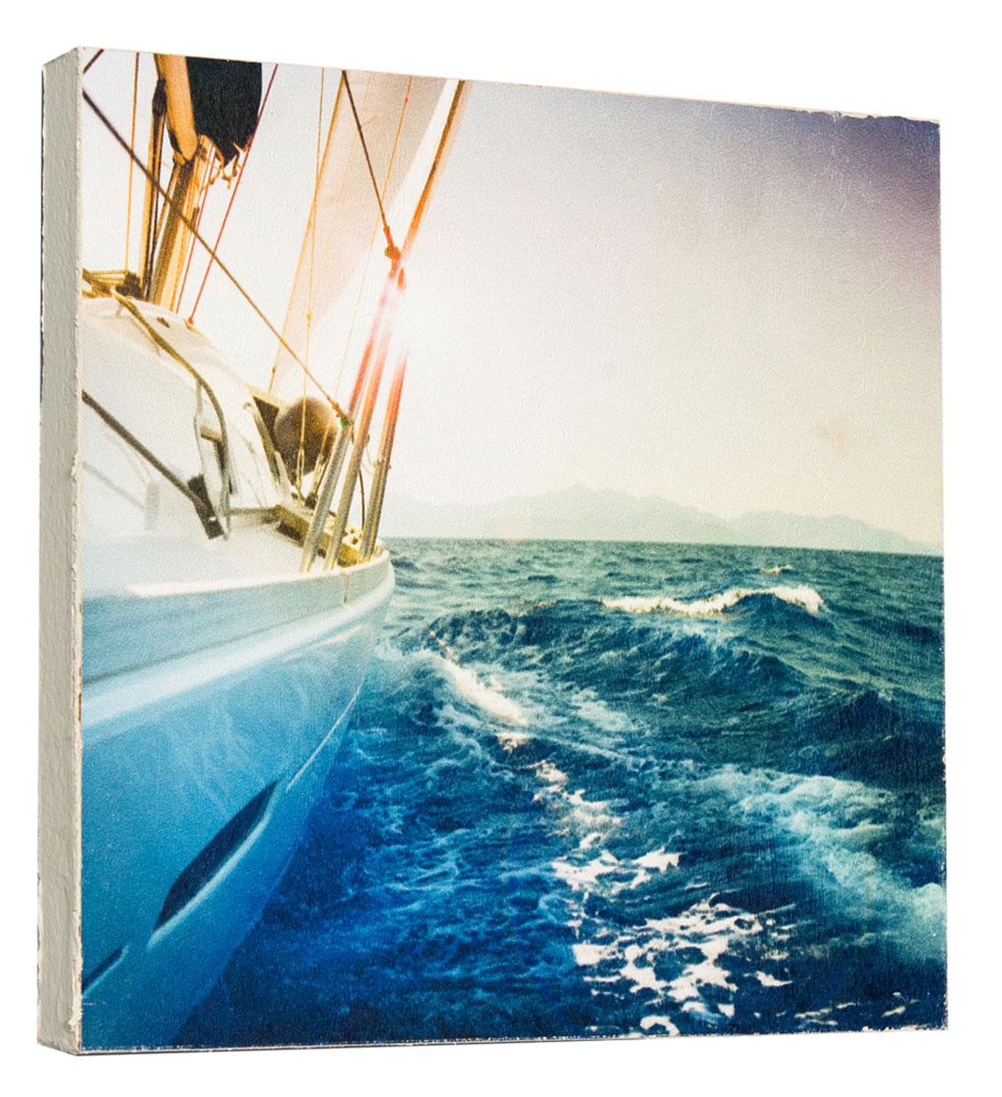 Картина Яхта, 14,5 х 14,5 см0152-15-15