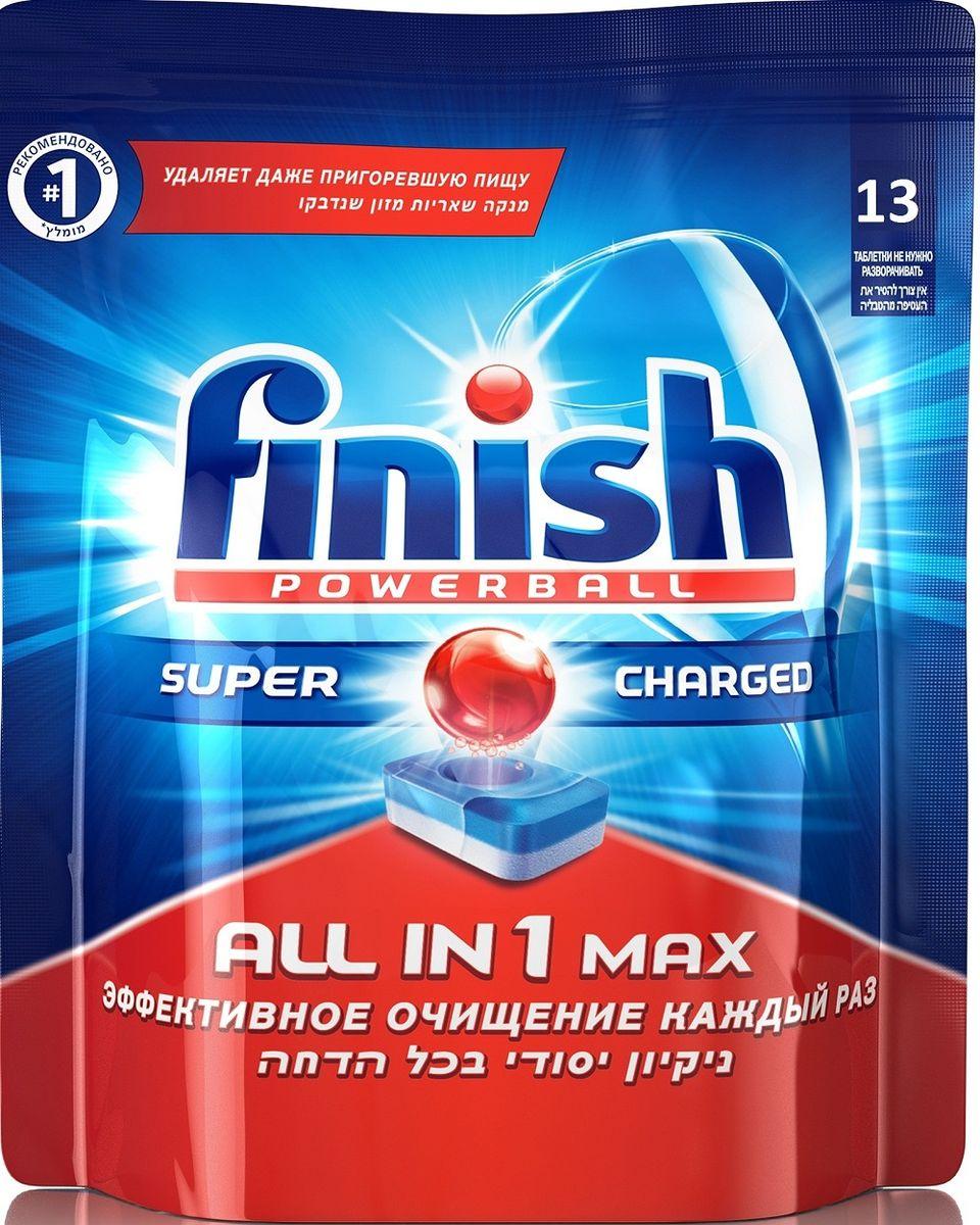 Таблетки для посудомоечной машины Finish All in 1 Max, 13 шт3009Таблетки для посудомоечной машины Finish All in 1 Max являются универсальным решением для вашей посудомоечной машины и позволяют придать посуде бриллиантовый блеск. Особенности таблеток: - удаляют даже самые сложные пятна и придают вашей посуде сияющий блеск; - входящие в состав таблетки порошок и специальные ингредиенты способствуют удалению застарелых пятен и пригоревшей пищи; - таблетки с уникальной технологией содержат функцию ополаскивателя; - белый слой таблеток обладает функцией соли, которая предотвратит образование известкового налета и способствует активизации очищающих компонентов, способствующих удалению осадка; - помогает предотвратить коррозию (помутнение) стекла.Состав: 30% и более фосфаты, 5% или более, но не менее 15% кислородсодержащий отбеливатель, менее 5% поликарбоксилаты, неиногенные ПАВ, фосфонаты, энзимы, ароматизаторы (гексилциннамаль, линалоол). Товар сертифицирован.Как выбрать качественную бытовую химию, безопасную для природы и людей. Статья OZON Гид