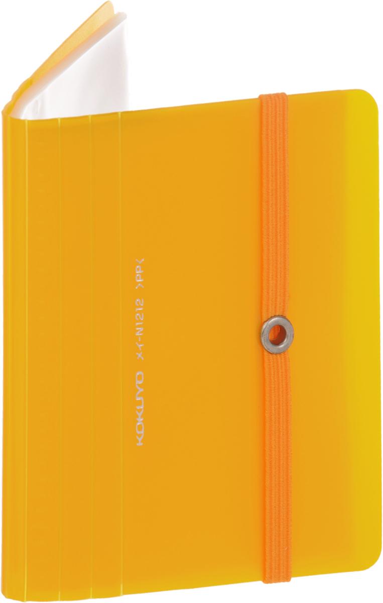 Kokuyo Визитница Novita на 60 визиток цвет желтый -  Визитницы