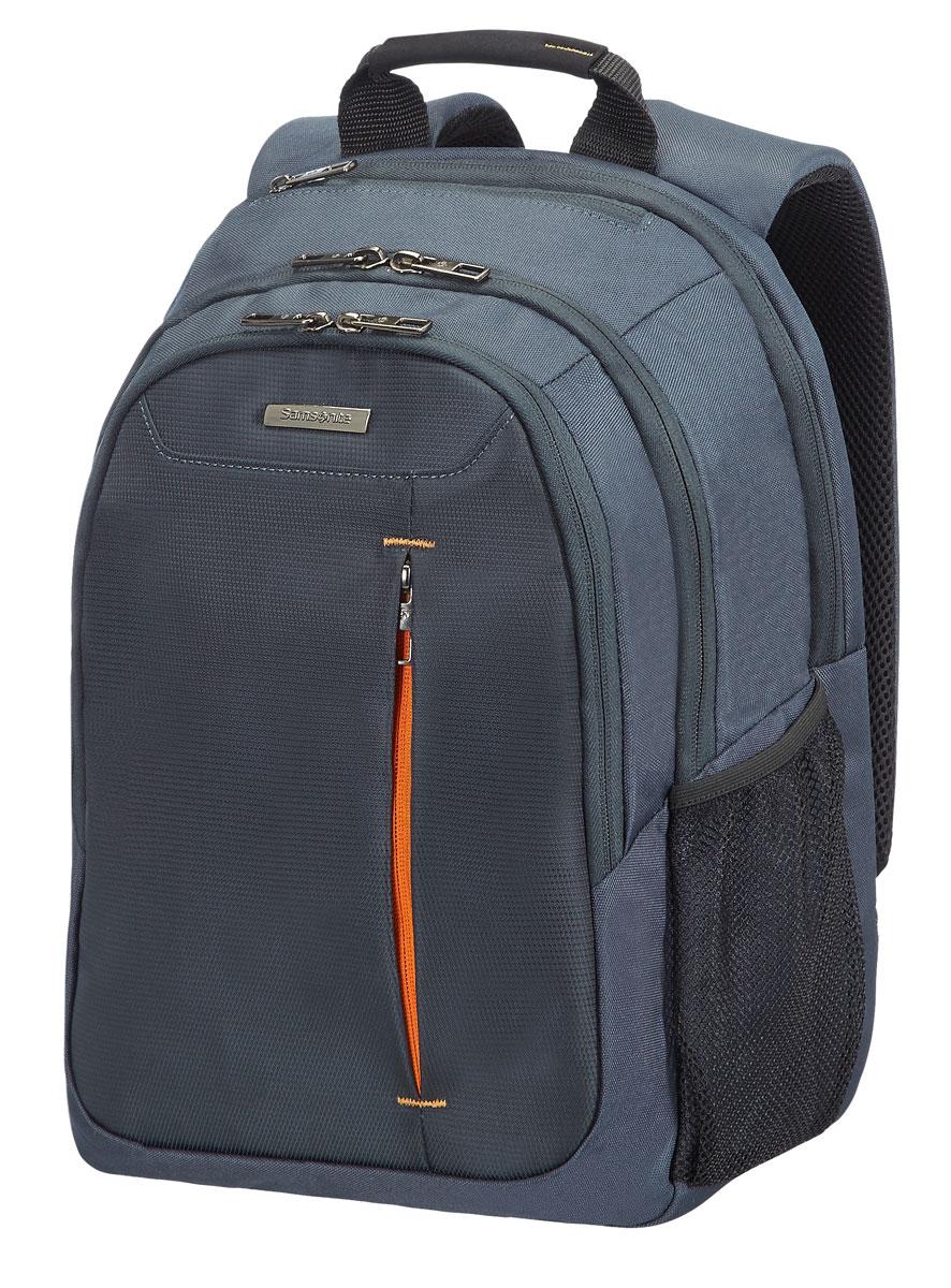 Рюкзак для ноутбука Samsonite Guardit, цвет: серый, 29,5 х 19 х 43 см88U*08004Рюкзак для ноутбука Samsonite Guardit до 141 изготовлен из полиэстера. Коллекция Guardit является идеальным решением для пользователей ноутбуков, объединяет в себе базовую функциональность с отличным внешним видом. Особенности коллекции: передний карман с внутренней организацией, умный карман, верхняя ручка с прокладкой из неопрена.Размер рюкзака: 29,5 х 19 х 43 см. Объем рюкзака: 18 л.