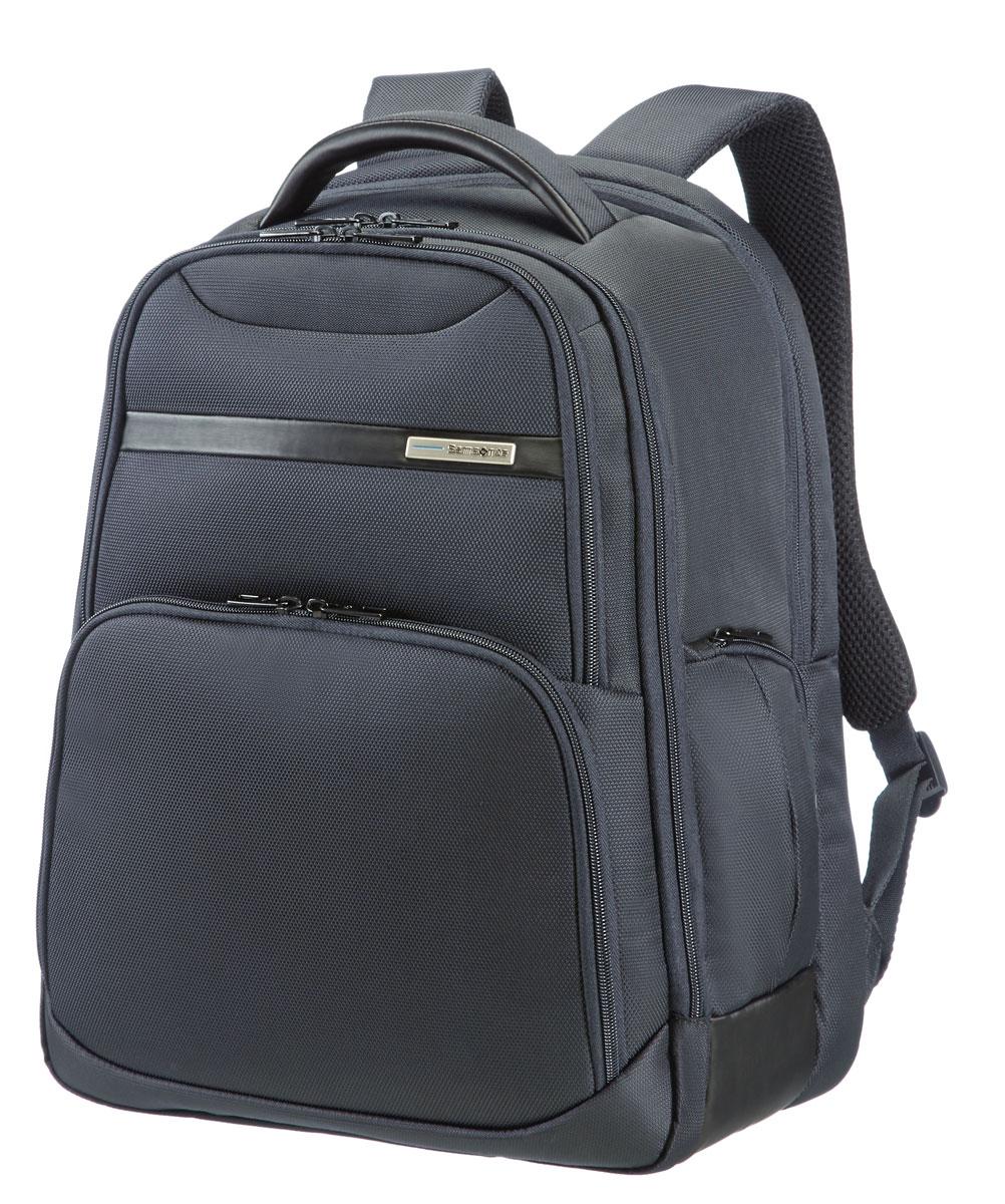 Рюкзак для ноутбука Samsonite, цвет: темно-серый, 27 л, 33,5 х 25 х 44,5 см39V*08008Рюкзак для ноутбука Samsonite, изготовленный из полиэстера с отполированной металлической фурнитурой, является идеальным решением для пользователей ноутбуков и объединяет в себе базовую функциональность с отличным внешним видом. Рюкзак подходит также для планшетов, оснащен держателем для бутылки, карманом для мобильного телефона и отделением для ноутбука. Имеется умный карман с креплением поверх выдвижной ручки чемодана. Размер рюкзака: 33,5 х 25 х 44,5 см. Объем рюкзака: 27,5 л.