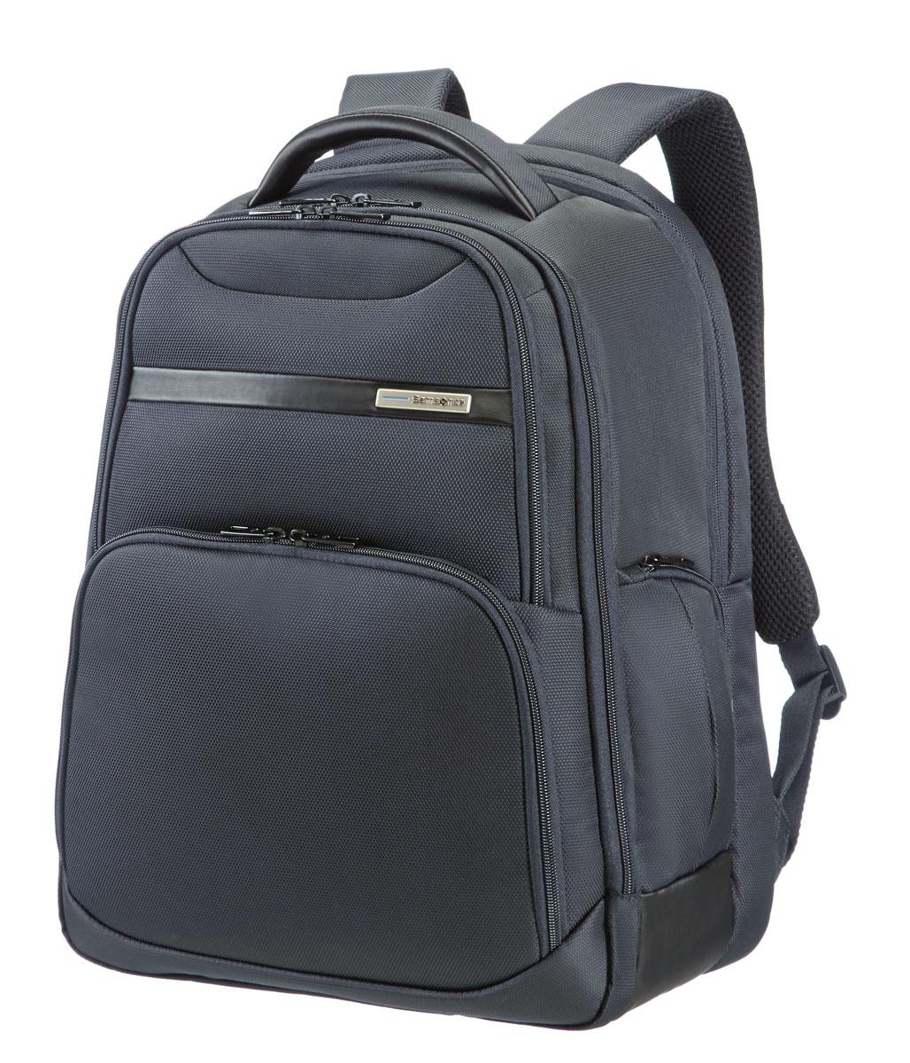 Рюкзак для ноутбука Samsonite, цвет: черный, 27 л, 33,5 х 25 х 44,5 см39V*09008Рюкзак для ноутбука Samsonite, изготовленный из полиэстера с отполированной металлической фурнитурой, является идеальным решением для пользователей ноутбуков и объединяет в себе базовую функциональность с отличным внешним видом. Рюкзак подходит также для планшетов, оснащен держателем для бутылки, карманом для мобильного телефона и отделением для ноутбука. Имеется умный карман с креплением поверх выдвижной ручки чемодана. Размер рюкзака: 33,5 х 25 х 44,5 см Объем рюкзака: 27,5 л