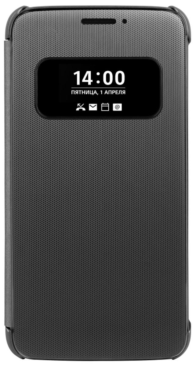 LG QuickCover чехол для для G5, BlackCFV-160.AGRATBLG QuickCover для G5 имеет инновационный модульный дизайн. Быстрый доступ к основным функциям: звонки, оповещения, смс, не открывая чехла. Конструкция чехла надежно защитит смартфон от повреждений, царапин и пыли. Имеется свободный доступ ко всем кнопкам и разъемам устройства.