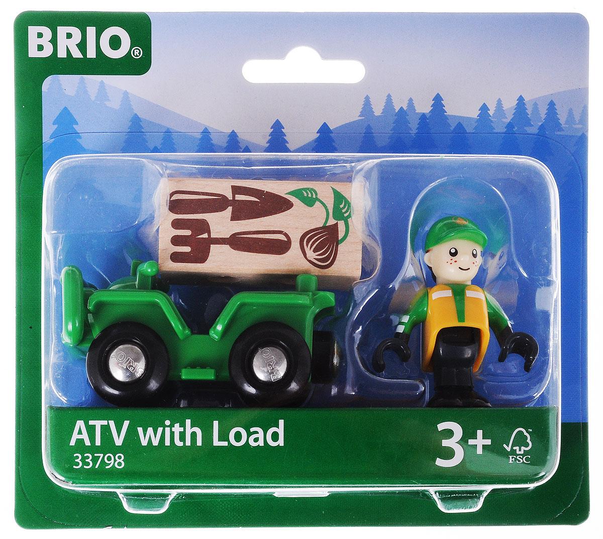 Brio Вездеход с грузом погрузчик с вращением с магнитом блист brio