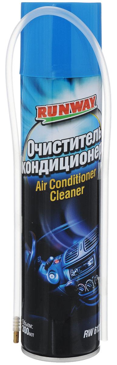 Очиститель кондиционера Runway, 300 млRW6122Профессиональный состав очистителя Runway с применением передовых технологий для дезинфекции системы кондиционирования воздуха автомобиля. Эффективно, быстро и без разборки удалит вредные микроорганизмы (грибки, плесень, бактерии, споры) и запах в испарителе и воздушных каналах кондиционера. Предотвращает появления вредных для человека микроорганизмов и запаха. Восстанавливает производительность кондиционера, позволяет экономить мощность, продлевает срок службы кондиционера. Имеет приятный запах. Продукт безопасен для человека и животных. Может использоваться в бытовых системах кондиционирования воздуха.Товар сертифицирован.