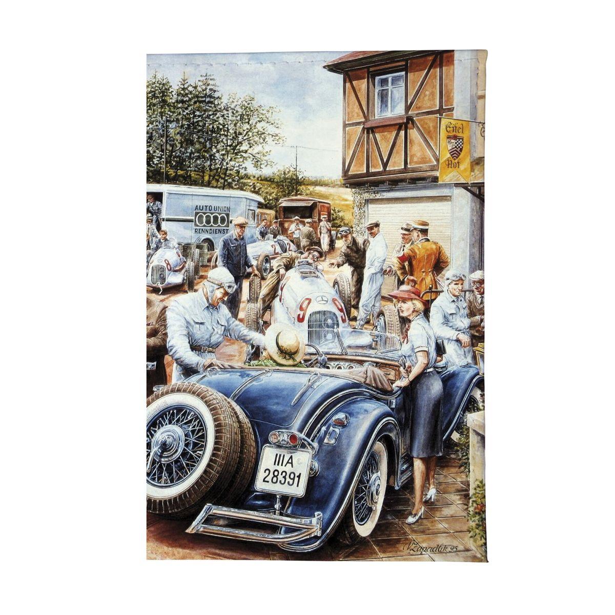 Обложка для автодокументов Ретро-гонка Арт. AUTO077Натуральная кожа