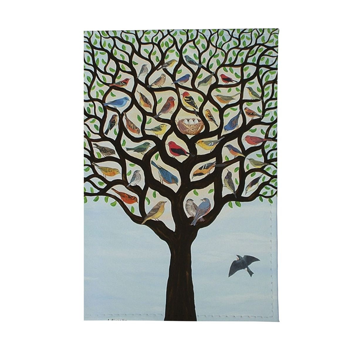 Обложка для автодокументов Дерево с птичками Арт. AUTOZAM117ПВХ (поливинилхлорид)