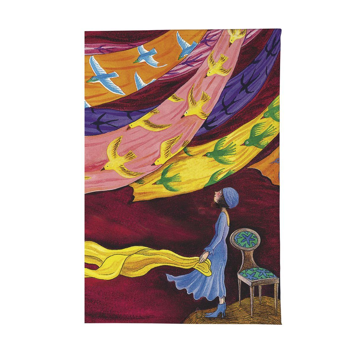 Обложка для паспорта Платки и птицы Арт. OZAM344ПВХ (поливинилхлорид)