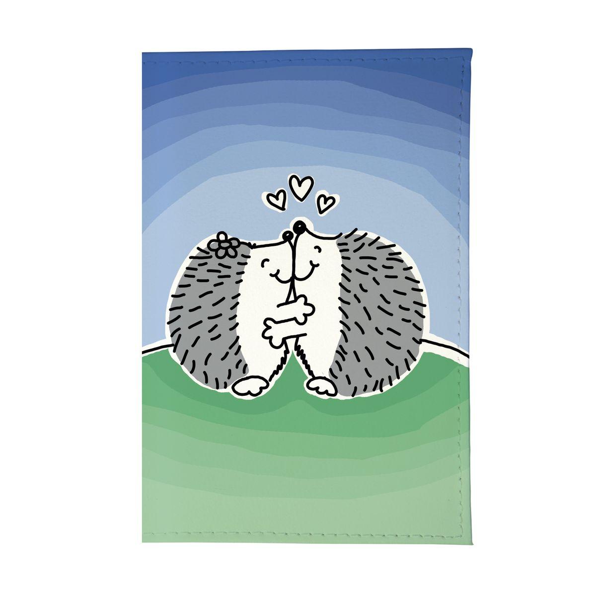 Обложка для паспорта Влюбленные ёжики Арт. OZAM356