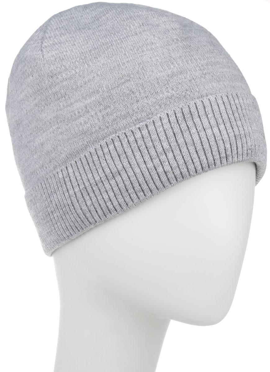 Шапка мужская Leighton, цвет: светло-серый. 5-084. Размер 59/605-084Стильная мужская шапка Leighton отлично дополнит ваш образ в холодную погоду и гарантирует вам тепло и потрясающий комфорт.Сочетание шерсти и акрила максимально сохраняет тепло и обеспечивает удобную посадку. Шапка с флисовой подкладкой по краю дополнена отворотом, связанным резинкой.Такая шапка комфортна и приятна на ощупь, она великолепно подчеркнет ваш стиль.