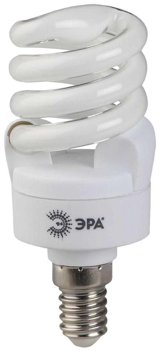 Лампа энергосберегающая ЭРА, F-SP-11-842-E14 (12/48), яркий белый свет лампа энергосберегающая e27 20w f sp 4200k дневной свет эра