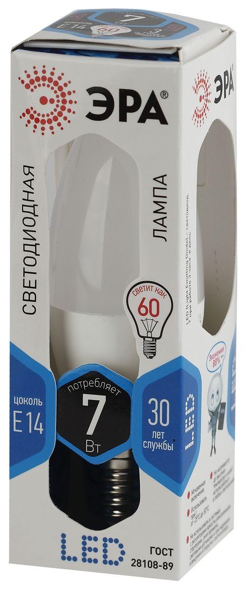 Лампа светодиодная ЭРА, LED smd B35-7w-840-E145055945503043