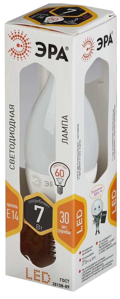 Лампа светодиодная ЭРА, цоколь E14, 170-265V, 7W, 2700К. 50559455030745055945503074Светодиодная лампа ЭРА является самым перспективным источником света. Основным преимуществом данного источника света является длительный срок службы и очень низкое энергопотребление, так, например, по сравнению с обычной лампой накаливания светодиодная лампа служит в среднем в 50 раз дольше и потребляет в 10-15 раз меньше электроэнергии. При этом светодиодная лампа практически не подвержена механическому воздействию из-за прочной конструкции и позволяет получить любой цвет светового потока, что, несомненно, расширяет возможности применения и позволяет создавать новые решения в области освещения.Особенности лампы:Мгновенное включение.Использовать при температуре от -25°С до +50°С.Не нагревается до высоких температур и может использоваться в любых светильниках.Не использовать в системах с регуляторами яркости, электронными стартерами, реле времени, световыми датчиками и при наружном освещении в открытых светильниках.30 лет службы.