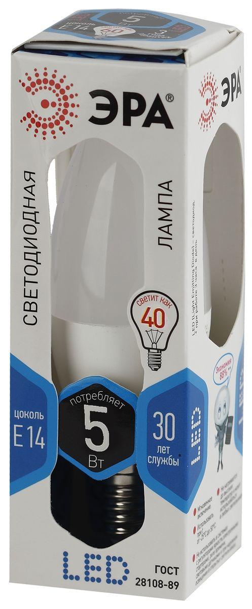 Лампа светодиодная ЭРА F-LED, цоколь E14, 170-265V, 5W, 4000К. B35-5w-840-E145055945528862Светодиодная лампа ЭРА F-LED является самым перспективным источником света. Основным преимуществом данного источника света является длительный срок службы и очень низкое энергопотребление, так, например, по сравнению с обычной лампой накаливания светодиодная лампа служит в среднем в 50 раз дольше и потребляет в 10-15 раз меньше электроэнергии. При этом светодиодная лампа практически не подвержена механическому воздействию из-за прочной конструкции и позволяет получить любой цвет светового потока, что, несомненно, расширяет возможности применения и позволяет создавать новые решения в области освещения.Максимально похожа на лампу накаливания, может использоваться в дизайнерских интерьерах. Угол рассеивания светового потока 360 градусов.