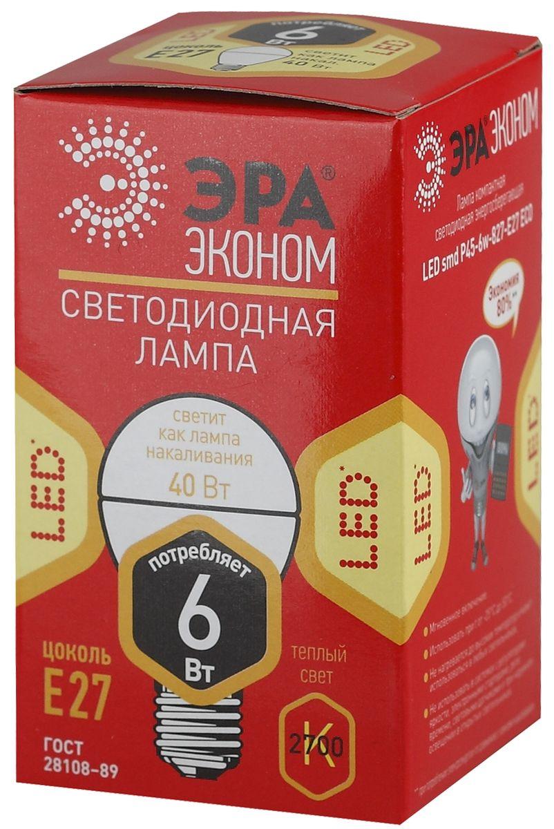 """Светодиодная лампа ЭРА """"Eco"""" является самым перспективным источником света. Основным преимуществом данного источника света является длительный срок службы и очень низкое энергопотребление, так, например, по сравнению с обычной лампой накаливания светодиодная лампа служит в среднем в 50 раз дольше и потребляет в 10-15 раз меньше электроэнергии. При этом светодиодная лампа практически не подвержена механическому воздействию из-за прочной конструкции и позволяет получить любой цвет светового потока, что, несомненно, расширяет возможности применения и позволяет создавать новые решения в области освещения.Серия """"Eco"""" достаточна для обычного потребителя. Работа в цепи с выключателем с подсветкой не рекомендована."""