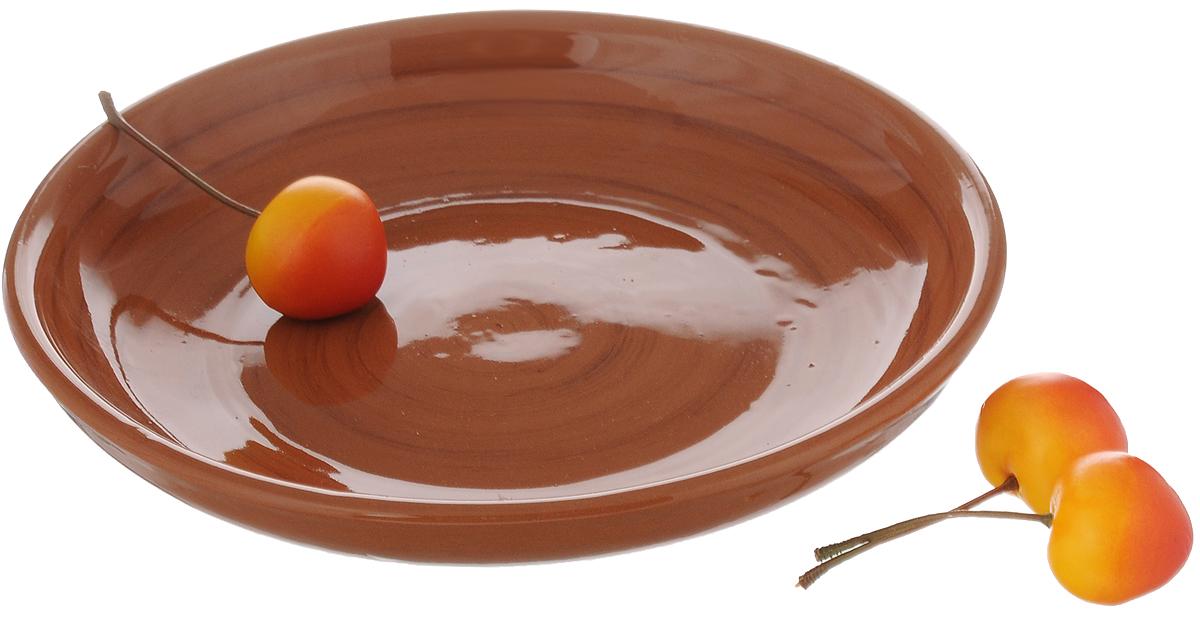 Миска для вторых блюд Борисовская керамика Cтандарт, диаметр 18 смОБЧ00000454_светло-корчиневыйМиска для вторых блюд Борисовская керамика Cтандарт выполнена из высококачественной керамики с покрытием пищевой глазурью. В качестве сырья использована экологически чистая красная глина. Изделие отлично подходит для подачи вторых блюд, сервировки нарезок, закусок, овощей и фруктов. Такая миска отлично подойдет для повседневного использования. Она прекрасно впишется в интерьер вашей кухни. Посуда термостойкая, можно использовать в духовке и в микроволновой печи. Диаметр: 18 см. Высота стенки: 3 см.