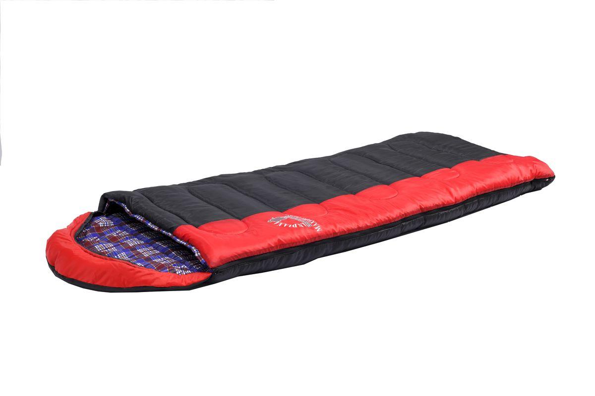 Спальный мешок Indiana Maxfort Plus, левая молния, цвет: красный ,черный, синий, 195 х 35 х 90 см360700046Универсальный спальный мешок Maxfort Plus с подкладкой из хлопковой фланели и с расширенными температурными режимами – его можно использовать не только в теплые летние ночи, но также холодной осенью и весной. Выпускается как с левой, так и правой молнией.
