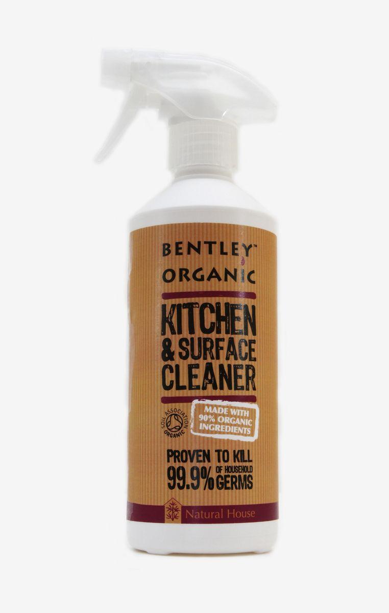 Очиститель для кухонных поверхностей Bentley Organic, 500 мл843389000137_новый дизайнХарактеристика: - Естественно и тщательно очищает все твердые моющиеся кухонные поверхности. - Подходит для очищения поверхностей кухонной мебели, обеденных столов, плит, холодильников, стиральных машин. - Убивает 99,9 % микробов, встречающихся дома, в том числе такие как сальмонелла, листерия, кишечная палочка, вирус гриппа H1N1 (доказано тестом BS1276). - Удаляет химикаты, остатки удобрений и пестицидов и прочие загрязнения с поверхности растительных продуктов. - В составе натурального средства для всех кухонных поверхностей 100% природные ингредиенты. - Только растительные пенящие вещества. - Не содержит фосфатов, производных хлора и сульфатов. Биоразлагаема. Не загрязняет водоемы.Состав: Вода, децил глюкозид, лаурил бетаин, экстракты грейпфрута, бергамота, танжерина, апельсина, аскорбиновая кислота, порошок из сока листьев алоэ, масло кожуры апельсина, молочная кислота, лимонная кислота, глицерин.