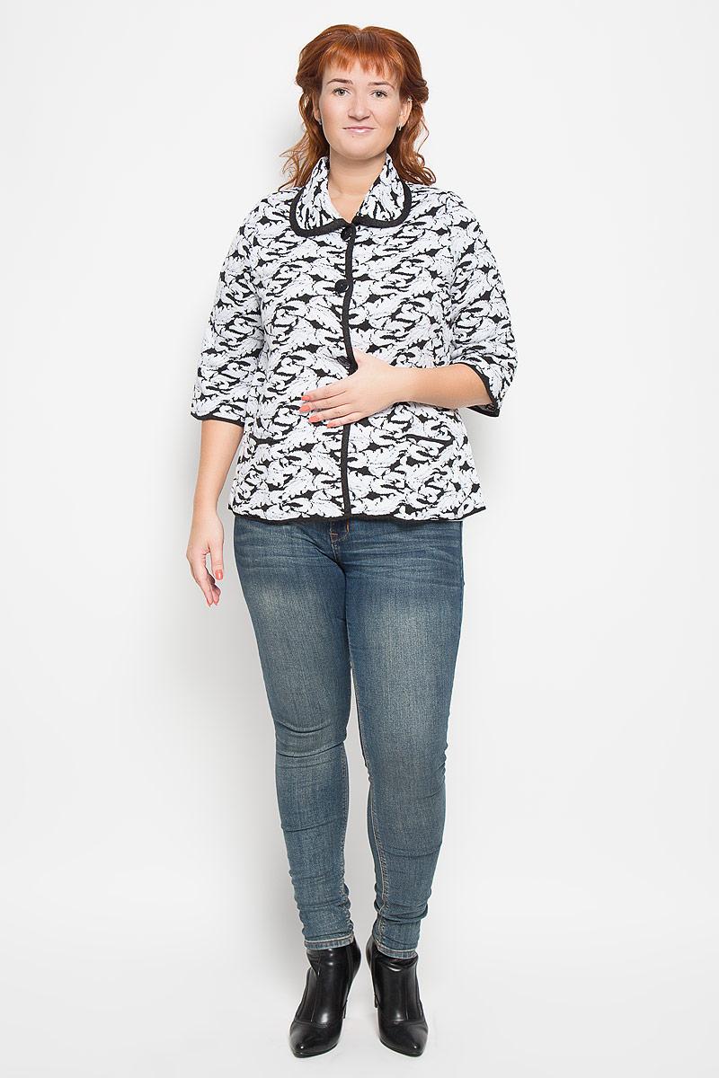 Кардиган женский Milana Style, цвет: белый, черный. 1160. Размер XXL (52) женский кардиган 013a56