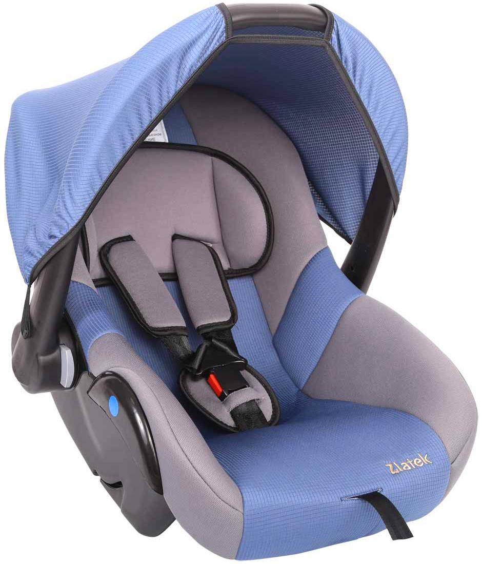 Zlatek Автокресло Colibri цвет синийКРЕС0184Детское автомобильное кресло Zlatek «Colibri», для детей от рождения до полутора лет, весом до 13 кг. Относится к возрастной группе 0, 0+.Мягкий вкладыш-подголовник обеспечивает дополнительный комфорт во время поездки. Съемный капюшон защищает ребенка от солнца, а удобная ручка позволяет без лишних усилий переносить ребенка, как в обычной люльке. Ярко выраженная боковая защита позволяет повысить уровень безопасности при боковых ударах.Детские удерживающие устройства Zletek разработаны и сделаны в России с учетом анатомии детей. Двухпозиционная регулировка внутренних ремней позволяет адаптировать кресло Zlatek «Colibri» под зимнюю и летнюю одежду ребенка. Автокресло успешно прошло все необходимые краш-тесты и имеет сертификат соответствия техническому регламенту РФ и таможенному союзу.Автокресло Zlatek «Colibri» упаковано в защитную полиэтиленовую пленку.