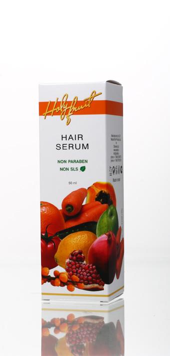 Holy Fruit Серум (сыворотка для волос) Hair Serum, 50 мл7290008564304Уникальная рецептура сыворотки объединила свойства двух основных средств по уходу: бальзама и маски. Сыворотка для волос включает экстракты шиповника и апельсина, масла календулы, жожоба, лаванды. Активный компонент – масло энотеры содержит линоленовую кислоту, которую организм не способен синтезировать самостоятельно. Его воздействие незаменимо, оно регенерирует клетки кожи головы, восстанавливает ломкие волосы, помогает при появлении перхоти, останавливает потерю волос, возвращает их блеск и густоту.