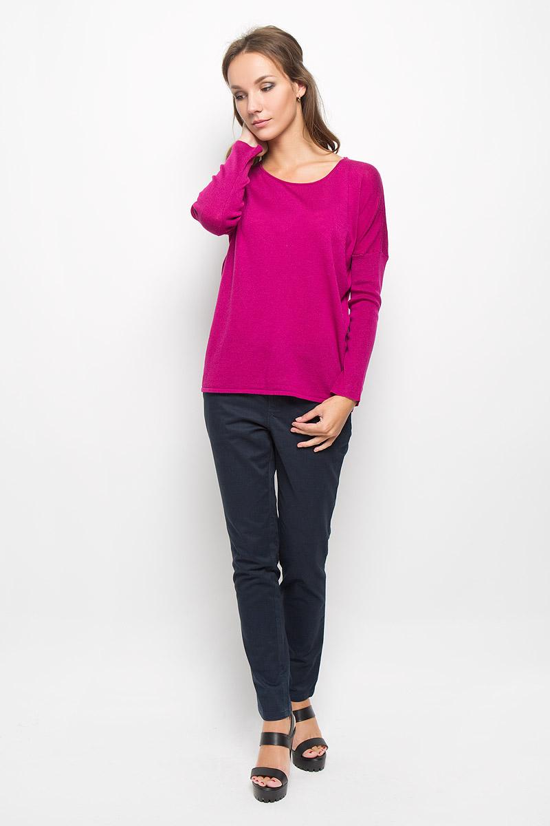 Джемпер женский Baon, цвет: фуксия. B166537. Размер XL (50) джемпер женский baon цвет серый меланж b166521 размер xl 50