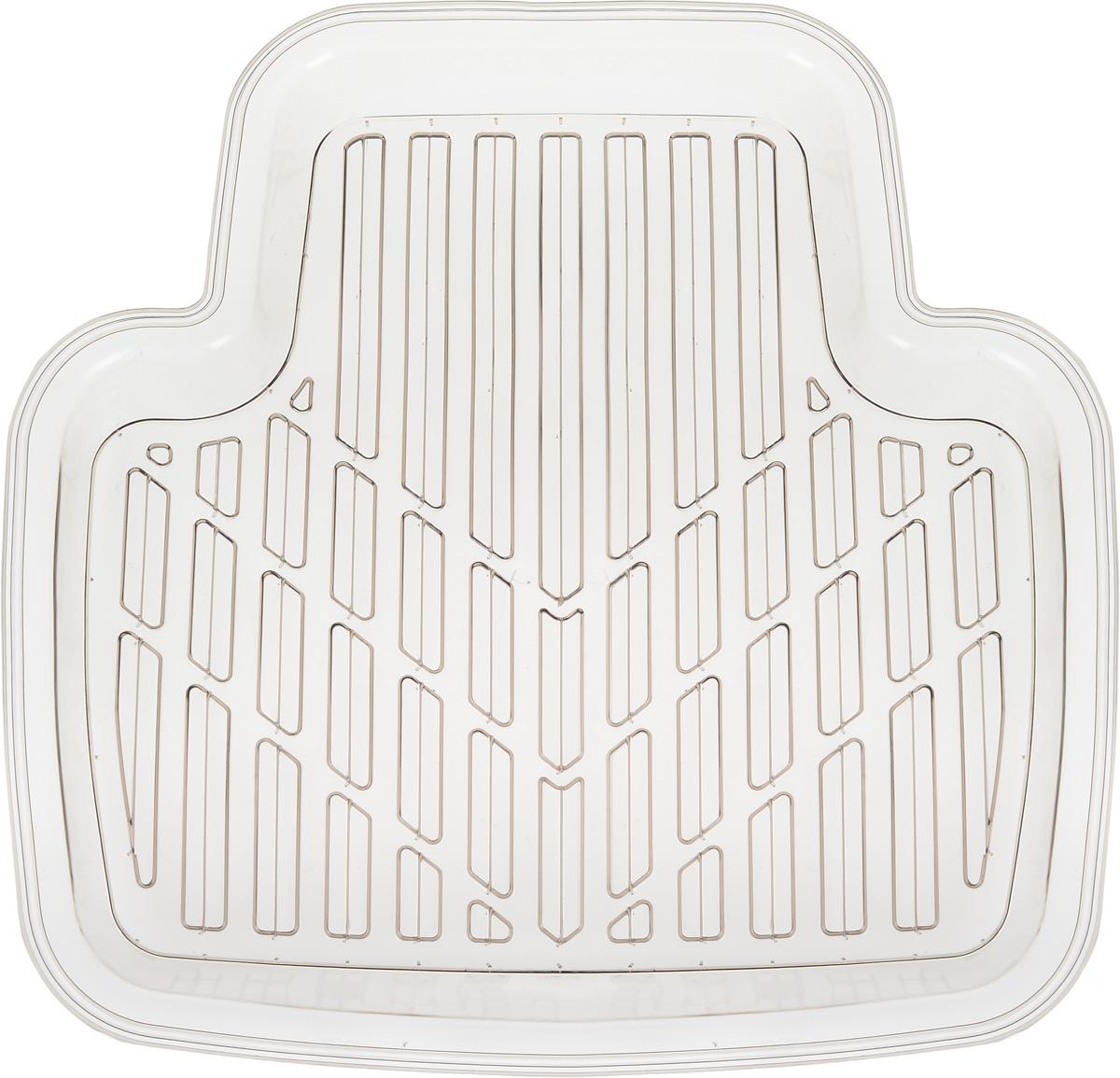 Коврик автомобильный Autoprofi, универсальный, цвет: дымчатый, 45 х 46 смPRO-160r SmokeКоврик-ванночка для заднего ряда Autoprofi изготовлен из прозрачного ПВХ. Т-образная форма и оптимальный размер изделия позволяют укладывать коврик между полозьями передних сидений, благодаря чему изделие эффективно защищает от влаги и грязи салон автомобиля. Коврик предназначен для всесезонного использования. Высококачественный ПВХ сохраняет эластичность даже при сильных морозах и обладает устойчивостью к агрессивным средам, таким как масло, топливо и дорожные реагенты.Температура использования: от -50°С до +50°С.