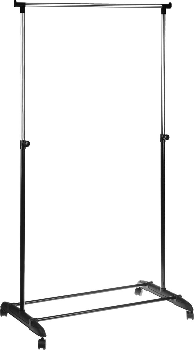 Вешалка напольная HomeMaster, цвет: черный, серебристый, 81 х 40 см, 94-160 смEB2041Удобная и компактная напольная вешалка HomeMaster имеет стильный дизайн и практична в использовании. Вешалка изготовлена из хромированной трубы (диаметр 22 мм и 19 мм) и пластика. Высота изделия регулируется при помощи телескопической системы. Модель установлена на колесные опоры, позволяющие с удобством транспортировать изделие.Регулируемая высота: 94-160 см.