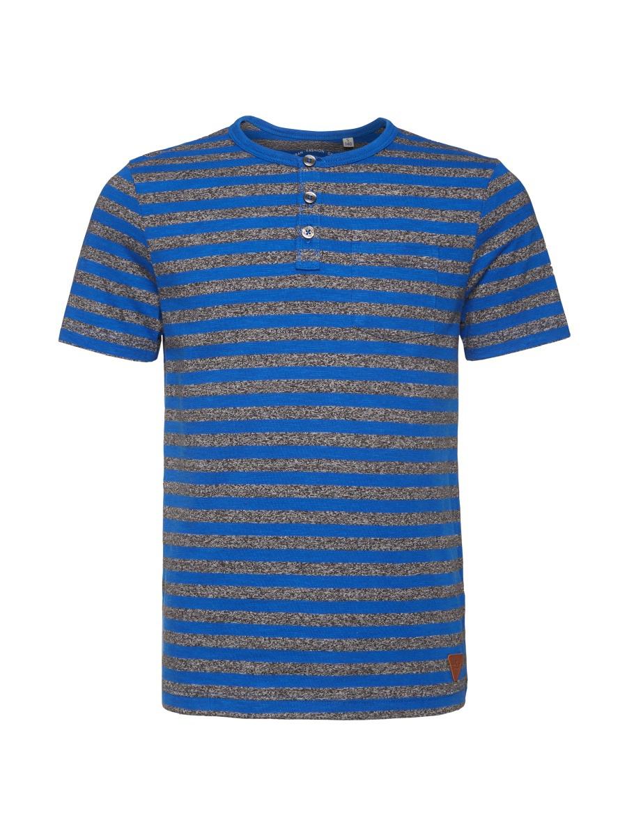 Футболка для мальчика Tom Tailor, цвет: синий. 1034570.40.30_6610. Размер 1521034570.40.30_6610Футболка выполнена из высококачественного материала. Модель с круглым воротником и короткими рукавами сверху застегивается на пуговицы.