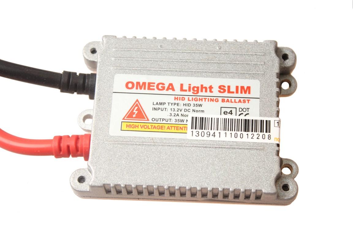 Блок высокого напряжения OmegaLight SlimB0L 013 000-000Блок высокого напряжения OmegaLight Slim используется для запуска ламп ксенонового света. Оптимальный выбор для эксплуатации в отечественных условиях.Особенности: -Напряжение: 12В. -Отличается безотказностью в работе и долгим сроком службы (2000 часов). -Защита от обратной полярности.-Защита от подключения без лампы.-Устойчив к перепадам температур.-100% влагозащищенность корпуса и разъемов.