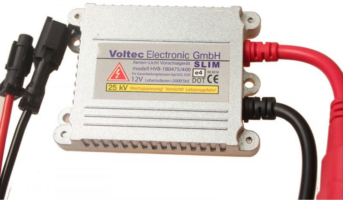 Блок высокого напряжения Voltec SlimBV1 SL0 000-000Блок высокого напряжения Voltec Slim предназначен для зажигания ксеноновой лампы, он поддерживает ее свечение и обеспечивает безопасную работу системы освещения. Блок подает высоковольтный заряд на лампу, что обеспечивает ее розжиг. Имеет полностью влагозащищенный тонкий корпус. Главной отличительной особенностью являются его миниатюрные габариты.