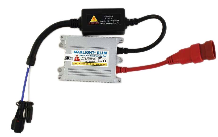 Блок высокого напряжения MaxLight SlimBML MSL 000-000Блок розжига MaxLight Slim предназначен для установки на автомобили с бортовым напряжением 12V без изменения в штатной проводке. Блоки розжига имеют систему HDP - (High Direct Plus) для ламп ксенонового света. Интеллектуальная система HDP контролирует процесс подачи напряжения на лампу в зависимости от температуры воздуха и самой лампы, тем самым увеличивая срок службы всего комплекта. Благодаря маленькой толщине блока, Вы сможете его установить на любой, даже самый маленький, автомобиль. Особенности блока высокого напряжения MaxLight Slim:Прочный металлический влагозащитный корпус миниатюрных размеров;Не оказывает влияние на бортовую сеть автомобиля;Надежная электроизоляция;Плавный и стабильный розжиг лампы;Защита от короткого замыкания и скачков напряжения;Новейшая микросхема управления, способствующая повышению надежности.Характеристики: Напряжение розжига лампы: 23000 В.Диапазон входного напряжения: 9-16 В.Рабочая температура от -40С до +105С.Габаритные размеры блока: 70 х 60 х 15 мм.Общий вес: 260 грамм.