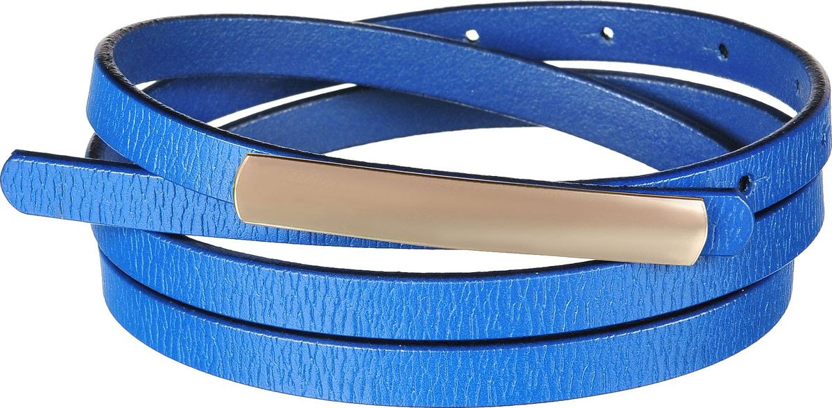 Ремень женский Модные истории, цвет: синий. 91-0227-180. Размер универсальный