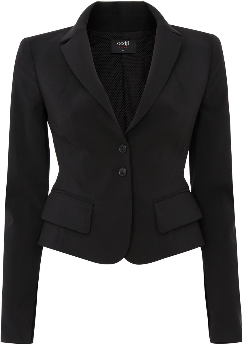 Жакет женский oodji Ultra, цвет: черный. 11200285-1/42250/2900N. Размер 36 (42-170) туника pepe jeans london