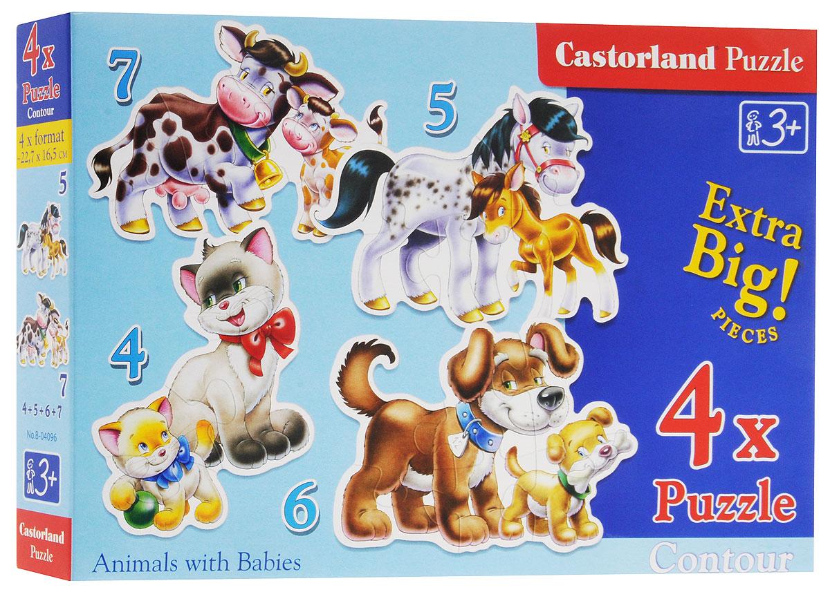 Castorland Пазл Животные 4 в 1