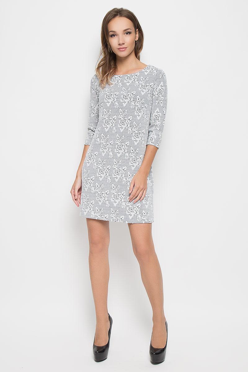все цены на  Платье Sela, цвет: белый, черный. DK-117/1096-6343. Размер XS (42)  онлайн