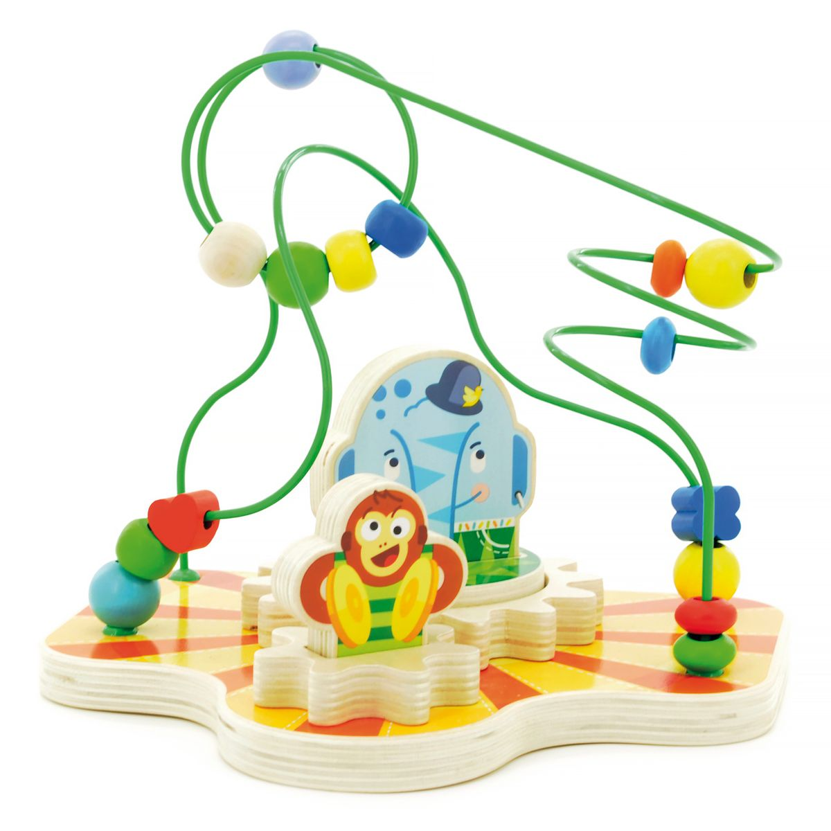 Мир деревянных игрушек Сортер-лабиринт Цирк игрушка мир деревянных игрушек лабиринт каталка обезьяна д357