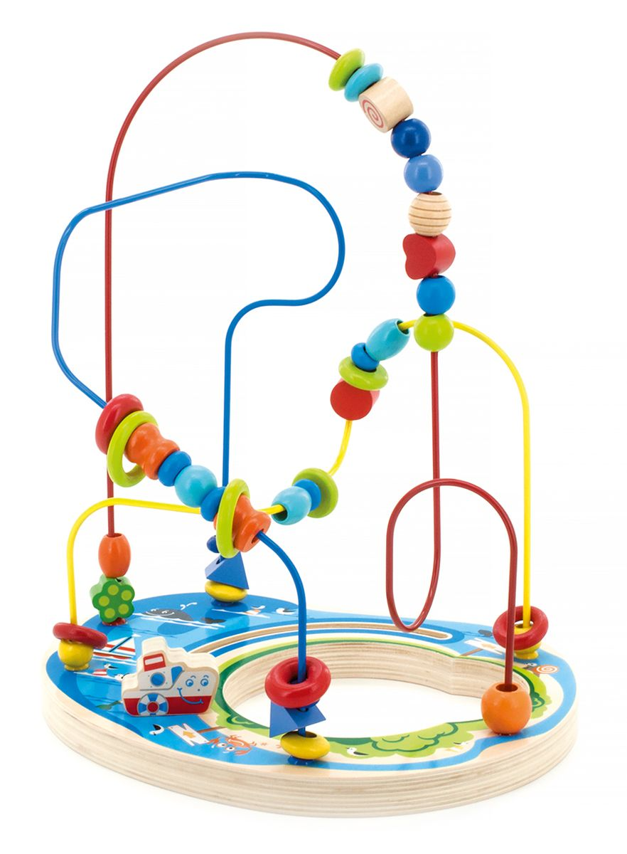 Мир деревянных игрушек Лабиринт Морское приключение игрушка мир деревянных игрушек лабиринт каталка обезьяна д357